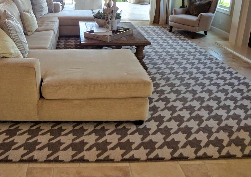 Houndstooth Brown Rug preview