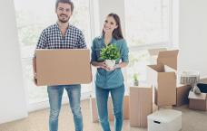 April Newsletter 2021 blog image of young couple moving in