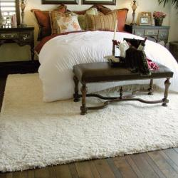 Shagtastic Bedroom White Rug