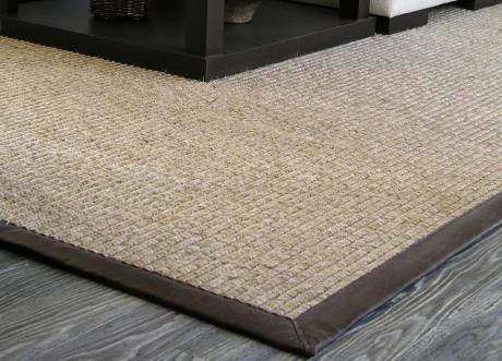 image of Natural Leather Binding Area Rug