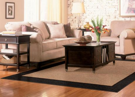 Nothing Matches The Elegant Simplicity Of One Border Area Rug It S Understated Fashionable And Incredibly Easy To Decorate Around